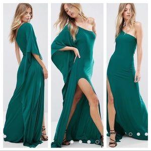 City Goddess One Shoulder Maxi Dress Side Split